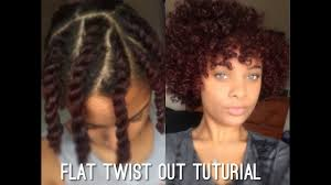 Flat Twist Out On Shortmedium Length Natural Hair Youtube