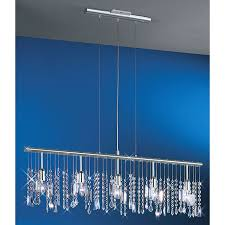 contemporary linear suspension lighting contemporary clear crystal chandelier the fixture features a 38