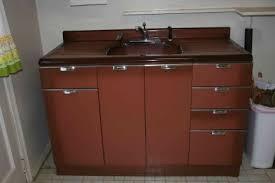 vintage metal sink cabinet 9853