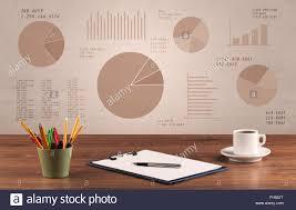 Office Pie Chart Pie Chart Graph Office Desk Stock Photo 96678704 Alamy