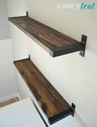 Walnut Effect Floating Shelves Gorgeous Butcher Block Floating Shelves Outstanding Walnut Wall On Table Ikea