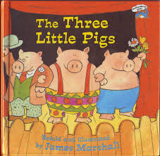 james marshall the three little pigs 1989 front cover as mangled