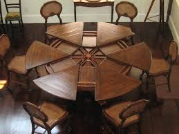 expandable round table round expandable dining tables modest ideas extendable round within expanding round table plans