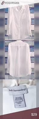 Soft Surroundings Size Chart Soft Surroundings Crisp White Button Down Shirt Beautiful