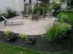 landscape patios. Landscaping Around Patio \u2013 Size And Shape Im Leaning Towards. Landscape Patios