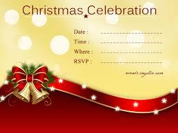 Christmas Invitation Card Sansalvaje Com