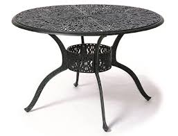 grand tuscany by hanamint luxury cast aluminum patio furniture 48 round dining table