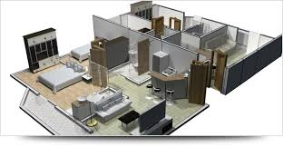 Screenshot of AutoCAD 2013 interior design drawing