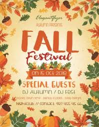 Fall Festival Flyers Template Free Download The Best Free Autumn Fall Flyer Psd Templates