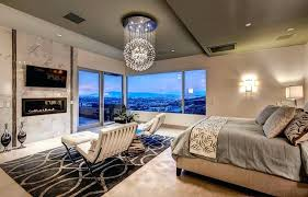 master bedroom ideas with fireplace. Luxury Bedroom Ideas Pictures Contemporary Master With Modern Globe Chandelier Fireplace And Amazing Views