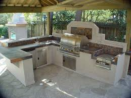 Outdoor Kitchen Countertop Ideas Outdoor Kitchen Countertops Outdoor Furniture Style