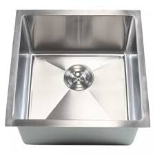 18 inch stainless steel undermount single bowl kitchen bar prep sink 15mm radius design 16 gauge