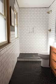 Subway wall tile Handmade Subway Tile Modern Bathroom Bright Green Door Our Modern Subway Tile Bathroom Bright Green Door