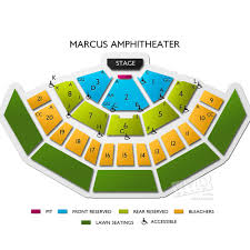 Alpine Valley Detailed Seating Chart With Seat Numbers American Family Insurance Amphitheater Concert Tickets And