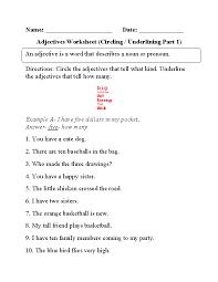 Second Grade Adjective Worksheets Worksheets for all   Download ...