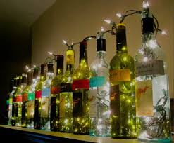 Decorative Wine Bottles With Lights beautifulwinebottlesdecor 90