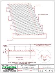corrugated metal panel overlap fasteners