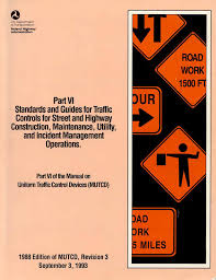 Mutcd Sign Chart Highway Work Zones And Signs Signals And Barricades