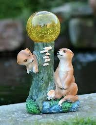 meerkat garden ornament solar powered