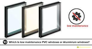 maintenance difference between pvc windows and doors aluminium windows and doors