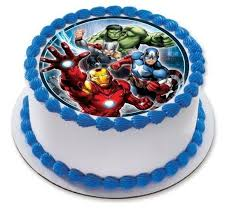 The Avengers Personalised Edible Birthday Party Cake Decoration
