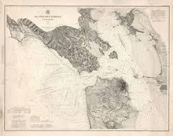 San Francisco Tide Chart Details About 1884 San Francisco Entrance Nautical Chart Map U S Survey Coastal Wall Poster