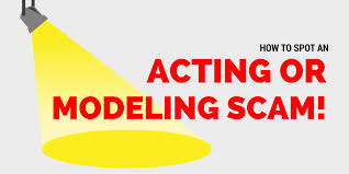 how to spot a modeling or acting scam