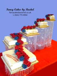 crystal pillar cake stand hire