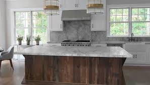 Kitchen with Salvaged Wood Island