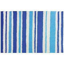 blue and white stripe accent rug indoor outdoor polyester blue white striped rugby socks