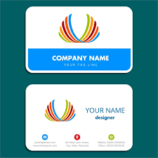 business card background business card design with simple white background free vector in