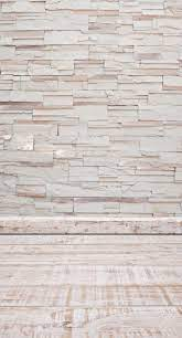 White stone wall floorboards ...