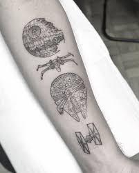 William Marin Thin Minimalistic Tattoo Blackwork Tattoo Star