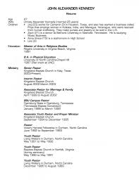 Church Youth Leader Resume Example Minister Sample Job And Template