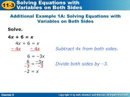 how to solve multi step linear equations with variables on both