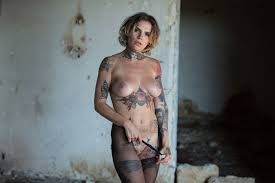 Stacy Cloud Showing Nude Tattoo Body In Loneliness Setting.