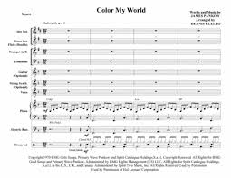 color my world sheet music download colour my world chicago jazz combo with vocal sheet