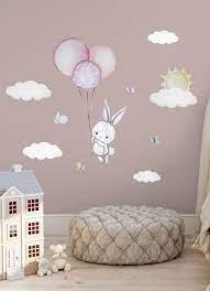wall sticker bunny nursery wall decal