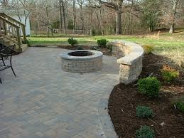 outdoor fireplace paver patio:  ideas and plant on the pot besides brick floor outside grass field small garden design outdoor decoration brick fireplace design patio brick paver