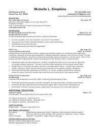 College Graduate Accounting Resume Recent College Graduate