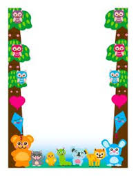 Small Picture Colorful birds and bugs adorn this border design Free to download