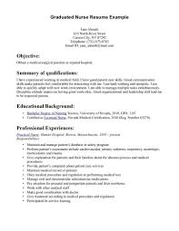 Template Graduate Registered Nurse Resume Examples New Nursing