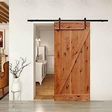 Barn Door Kit Complete w/Knotty Alder Door and Hardware 36in x 84in