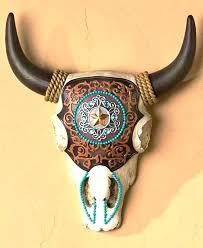 southwest wall art decor southwestern cow skull adobe native western star canvas deer sout