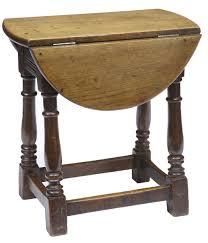 Unusual 19th Century Small Oak Dropleaf Side Table 238010