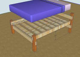 simple diy bed frame plans for building a bed frame queen bed frame plans best build