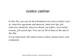 Interview questions and answers  free download/ pdf and ppt file costco  cashier In this ...