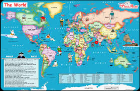 map of the world for kids and  roundtripticketme