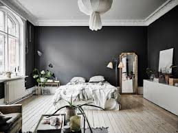 Black Wall Interior open space with tall ceilings