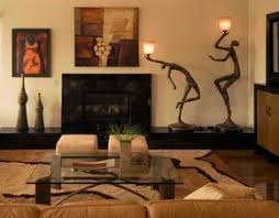 Living Room African Safari Decor Design Ideas, Pictures, Remodel, and Decor  - page